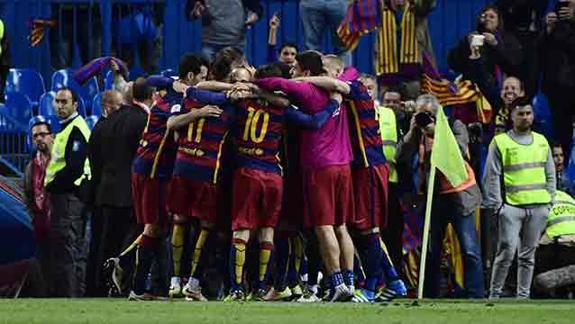 Barcelona campeón de la Copa del Rey, venció 2-0 a Sevilla