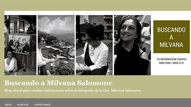 Allegados a la médica Milvana Salomone crearon web para pedir información