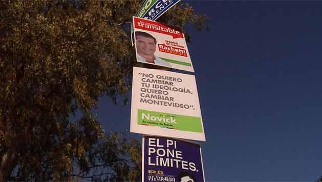 La IM comenzó a retirar de las calles los carteles de la campaña electoral
