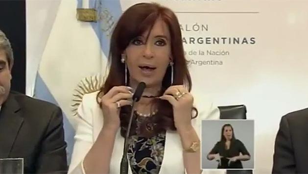 """Cristina Fernández: """"a robar mi amor"""""""