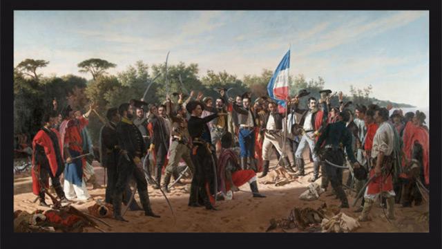 """A 190 años del desembarco, presentan restauración del """"Juramento de los 33"""""""