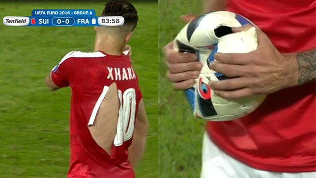 Insólito Francia–Suiza: se rompieron 6 camisetas y explotó la pelota