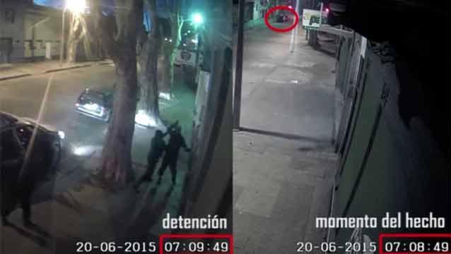 Robó un auto, lo vieron con las cámaras y un minuto después lo atraparon