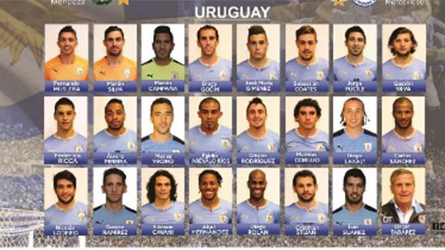 Lista de convocados para partidos de la Celeste ante Argentina y Paraguay
